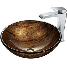 <strong>Vigo</strong> Sunset Bathroom Sink with Faucet