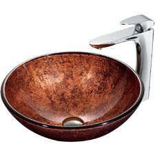 Mahogany Moon Sink with Faucet