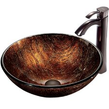 <strong>Vigo</strong> Kenyan Twilight Vessel Sink with Faucet