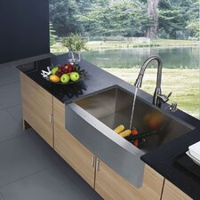 "<strong>Vigo</strong> 30"" x 22.25"" Farmhouse Kitchen Sink"