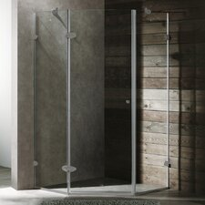 Neo-Angle Door Frameless Clear Shower Enclosure