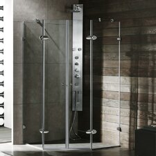 Neo-Angle French Door Frameless Shower Enclosure