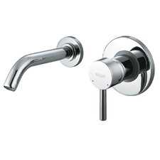 Wall Mounted Bathroom Faucet with Single Lever Handle
