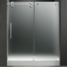 Frameless Sliding Frosted Left Side Shower Door