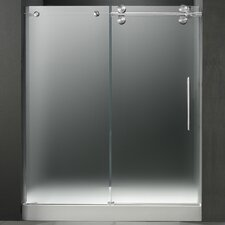 Frameless Sliding Frosted Right Side Shower Door