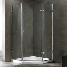 Neo-Angle Frameless Shower Enclosure with Low-Profile Base