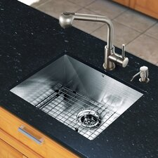 "<strong>Vigo</strong> All in One 23"" x 20"" Undermount Kitchen Sink with Faucet Set"