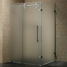 Sliding Door Shower Enclosure with Left Sided Door
