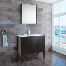 "<strong>Vigo</strong> Maxine 35.88"" Single Bathroom Vanity Set"