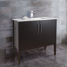 "<strong>Vigo</strong> Maxine 35.8"" Single Bathroom Vanity Set"