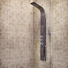 Shower Panel with Rain Head Massage System and Hand Held Shower