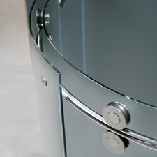 Frameless Round Clear Sliding Door Shower Enclosure with Right-Sided Door