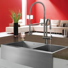 "36"" x 22.25"" Double Bowl Farmhouse Kitchen Sink"