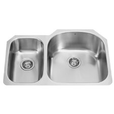 "<strong>Vigo</strong> 31.5"" x 20.5"" Double Bowl Undermount Kitchen Sink"