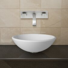 Phoenix Stone Glass Vessel Sink with Wall Mount Faucet