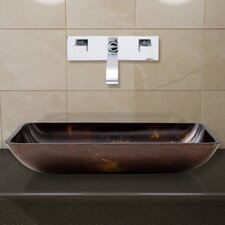 Glass Vessel Sink with Wall Mount Faucet