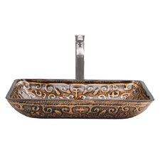 Greek Glass Vessel Sink and Otis Faucet Set