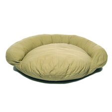 Saddle Stitch Twill Bolster Dog Bed