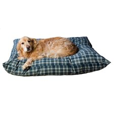 Indoor/Outdoor Shebang Dog Bed in Green Plaid