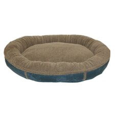 Faux Suede Round Comfy Cup Donut Dog Bed
