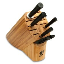 Sora 6 Piece Knife Block Set in Natural