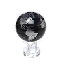 "4.5"" Blue and Silver Metallic Globe"
