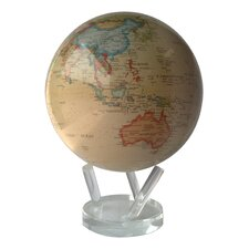 "8.5"" Globe in Antiqued Beige"
