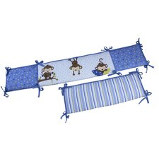 3 Little Monkeys Boy's Crib Bumper