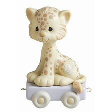 """Birthday Train Wishing You Grr-Eatness"" Leopard Figurine"