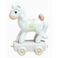 """Birthday Train Being Nine Is Just Divine"" Horse Figurine"