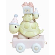 """Birthday Train Take Your Time It's Your Birthday"" Turtle Figurine"