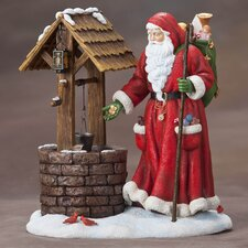 """Wishing Well Santa"" Limited Edition Santa at Wishing Well Figurine"