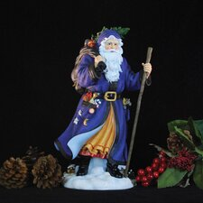 """Tannenbaum Santa"" Limited Edition Santa in Blue Coat Figurine"