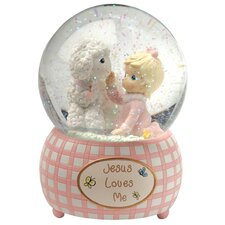 <strong>Precious Moments</strong> Jesus Loves Me Musical Water Globe