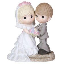 "Wedding Couple ""Two Lives One Love"" Figurine"