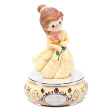 Girl Dressed As Belle Musical Figurine