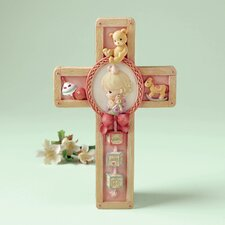 Jesus Loves Me Girl Praying Cross Hanging Art