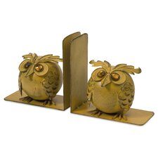 Viola Owl Book Ends (Set of 2)