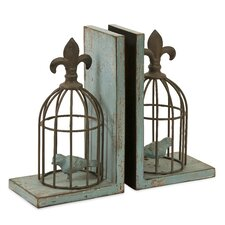 Birdcage Book Ends (Set of 2)