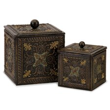 2 Piece Arabian Nights Lidded Box Set