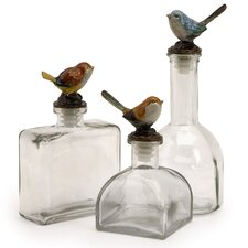 3 Piece Maco Bird Bottle Set