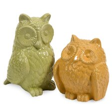 <strong>IMAX</strong> 2 Piece Spencer Owls Figurine