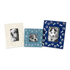 Dog Bone Ceramic Picture Frames (Set of 3)