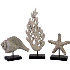 3 Piece Seaside Figurine