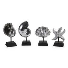 Seashells in Silver (Set of 4)