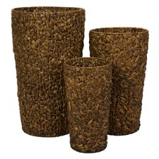 Maiya Oversized Woven Planters (Set of 3)