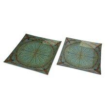 Tate Glass Trays (Set of 2)