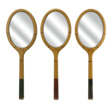 Wilkins Tennis Racquet Mirror (Set of 3)