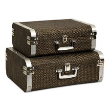 Curry Storage Suitcases (Set of 2)
