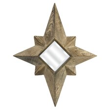 <strong>IMAX</strong> Wood Star Mirror